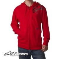 Alpinestars felpa Charged zip red