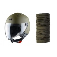 Astone-casco-Mini-Jet-verde-buff-scaldacollo