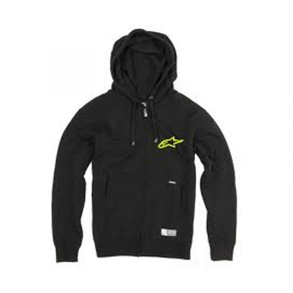 Alpinestars-felpa-Charged-zip-blackgreen-offerta